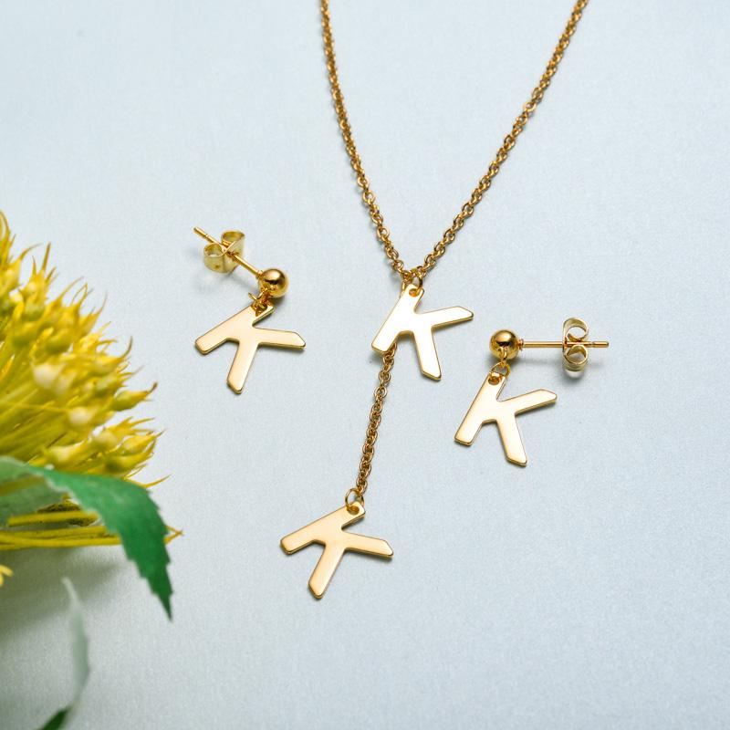Conjunto de joyas de acero inoxidable para mujer al por mayor -SSCSG126-33424