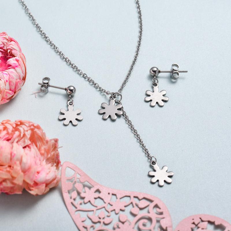 Conjunto de joyas de acero inoxidable para mujer al por mayor -SSCSG126-33370