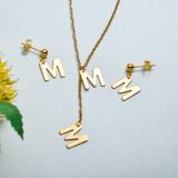 Conjunto de joyas de acero inoxidable para mujer al por mayor -SSCSG126-33427