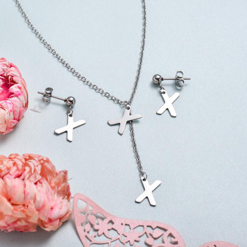 Conjunto de joyas de acero inoxidable para mujer al por mayor -SSCSG126-33383