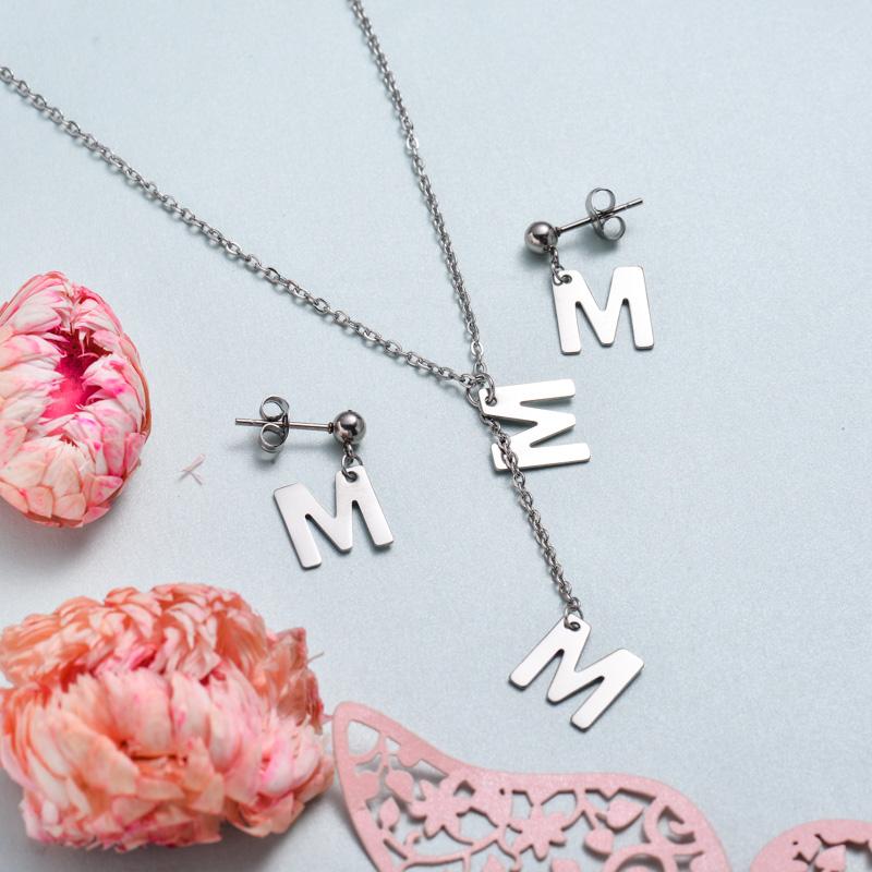 Conjunto de joyas de acero inoxidable para mujer al por mayor -SSCSG126-33378
