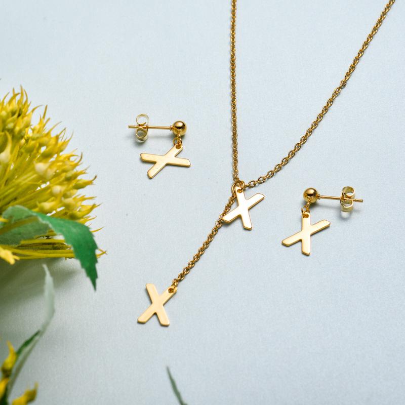 Conjunto de joyas de acero inoxidable para mujer al por mayor -SSCSG126-33419