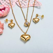Conjunto de joyas de acero inoxidable para mujer al por mayor -SSCSG126-33355