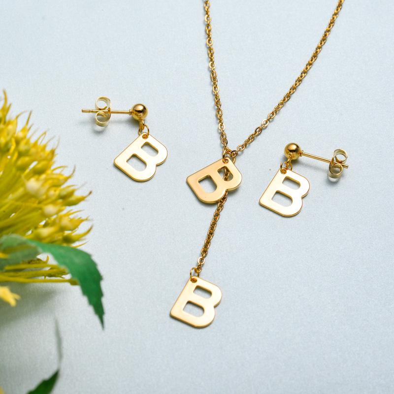 Conjunto de joyas de acero inoxidable para mujer al por mayor -SSCSG126-33412