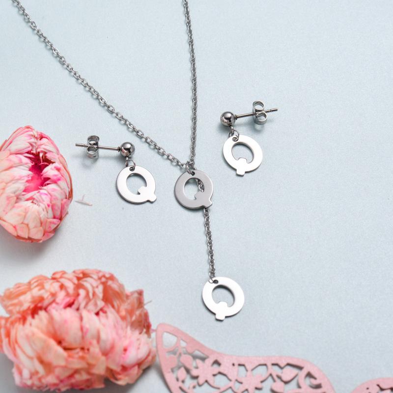 Conjunto de joyas de acero inoxidable para mujer al por mayor -SSCSG126-33388