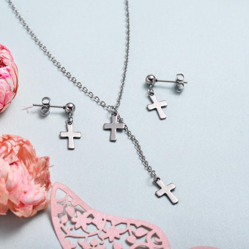 Conjunto de joyas de acero inoxidable para mujer al por mayor -SSCSG126-33372