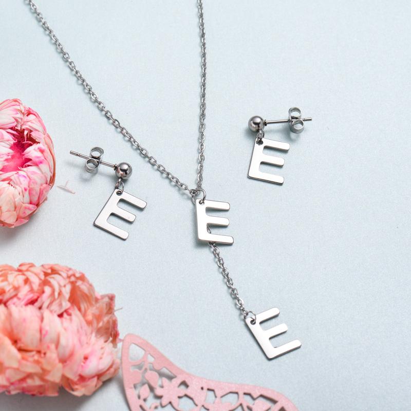 Conjunto de joyas de acero inoxidable para mujer al por mayor -SSCSG126-33387