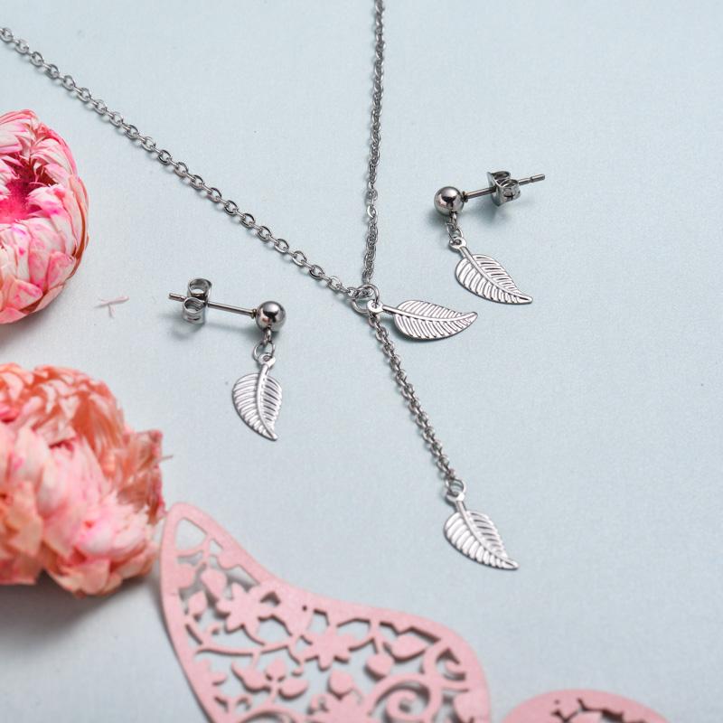 Conjunto de joyas de acero inoxidable para mujer al por mayor -SSCSG126-33373