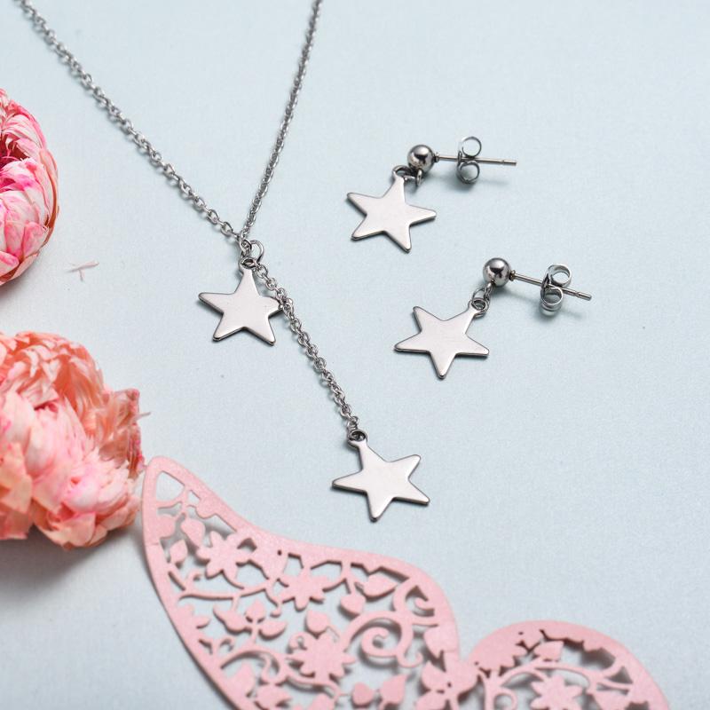 Conjunto de joyas de acero inoxidable para mujer al por mayor -SSCSG126-33371