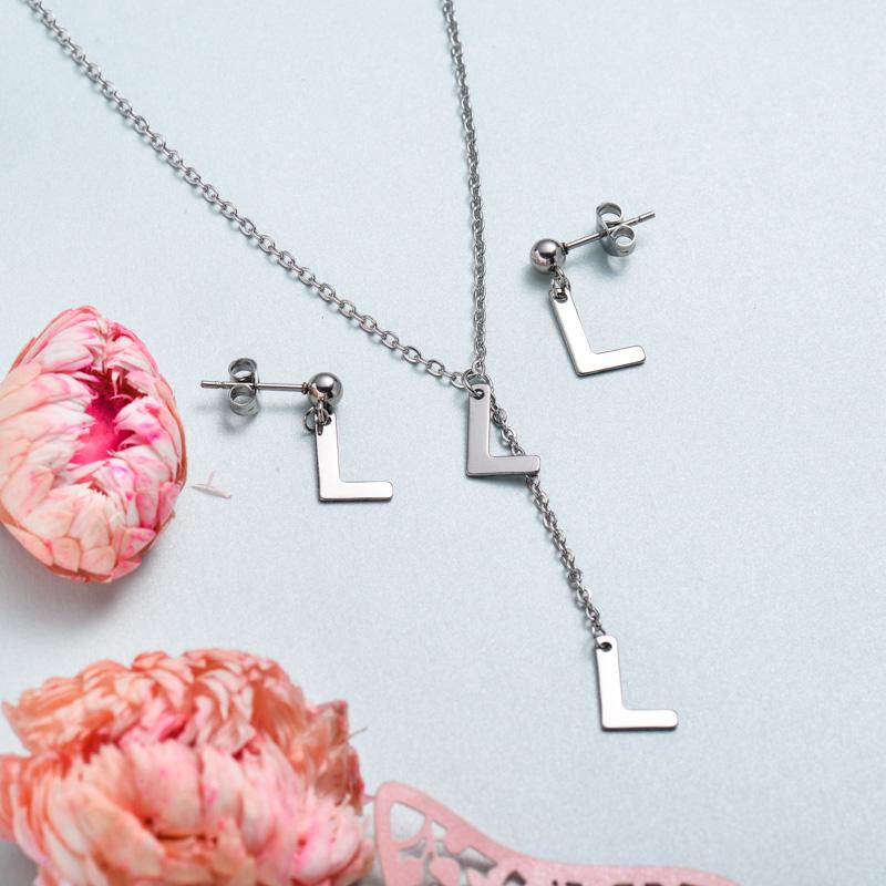 Conjunto de joyas de acero inoxidable para mujer al por mayor -SSCSG126-33385
