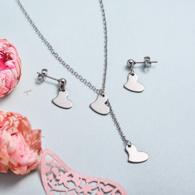 Conjunto de joyas de acero inoxidable para mujer al por mayor -SSCSG126-33374
