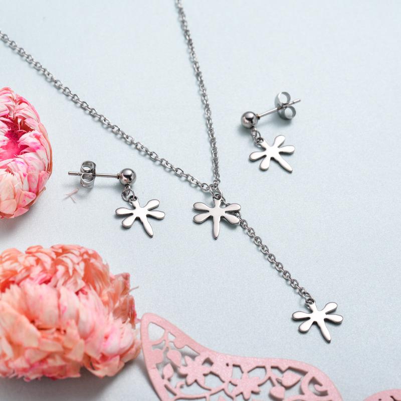 Conjunto de joyas de acero inoxidable para mujer al por mayor -SSCSG126-33376