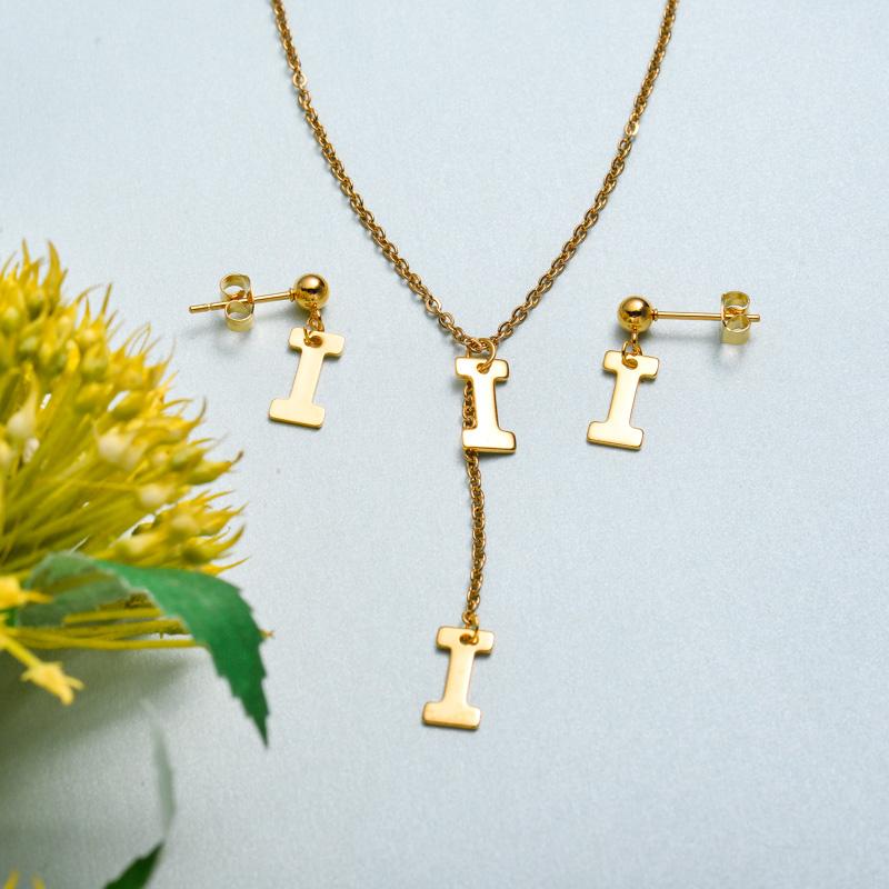 Conjunto de joyas de acero inoxidable para mujer al por mayor -SSCSG126-33416