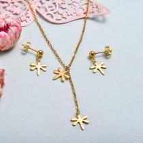 Conjunto de joyas de acero inoxidable para mujer al por mayor -SSCSG126-33353