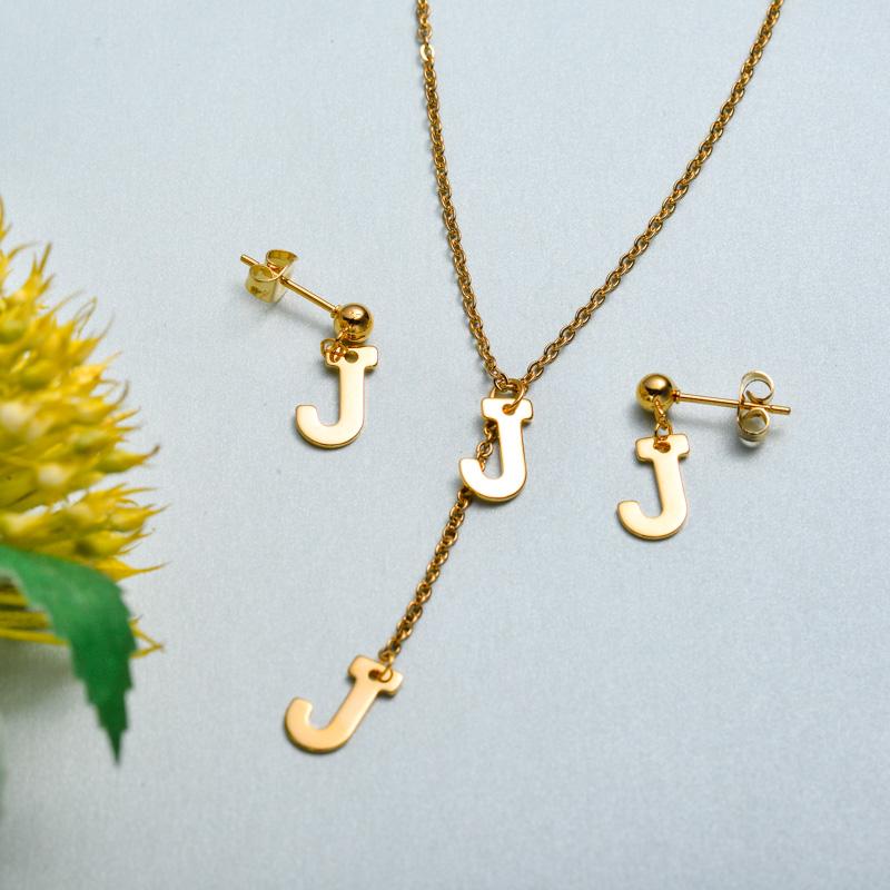 Conjunto de joyas de acero inoxidable para mujer al por mayor -SSCSG126-33420