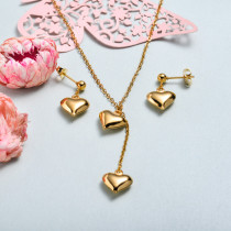 Conjunto de joyas de acero inoxidable para mujer al por mayor -SSCSG126-33352