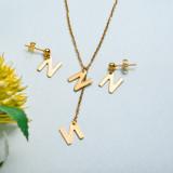 Conjunto de joyas de acero inoxidable para mujer al por mayor -SSCSG126-33426