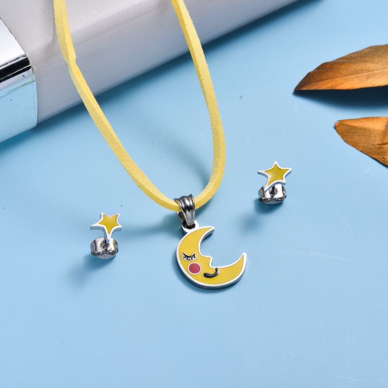 Stainless Steel Enamel Cute Jewelry Sets for Children -SSCSG143-33031