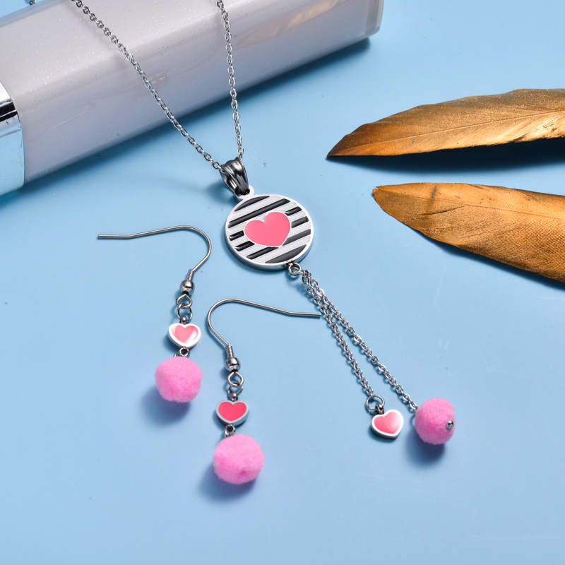 Stainless Steel Enamel Cute Jewelry Sets for Children -SSCSG143-33032