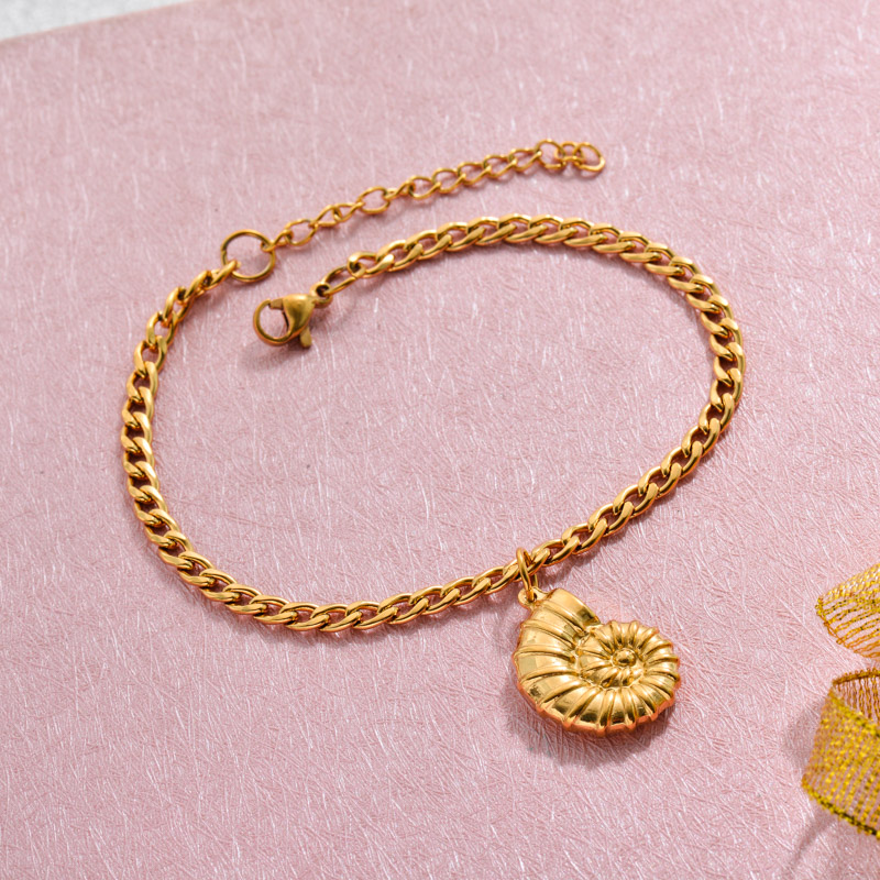 18k Gold Plated Beach Marine Charm Bracelets -SSBTG143-32788