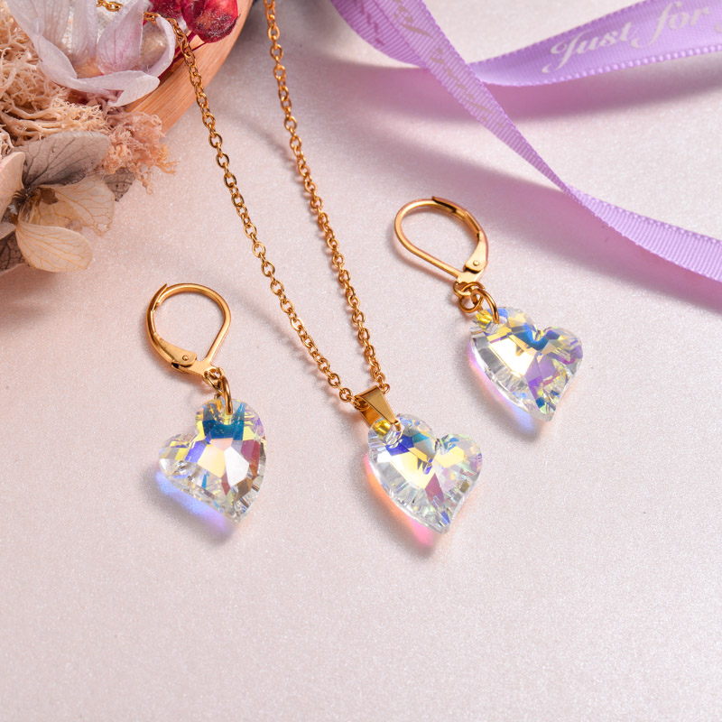 18k Gold Plated Crystal Jewelry Sets -SSCSG143-32925