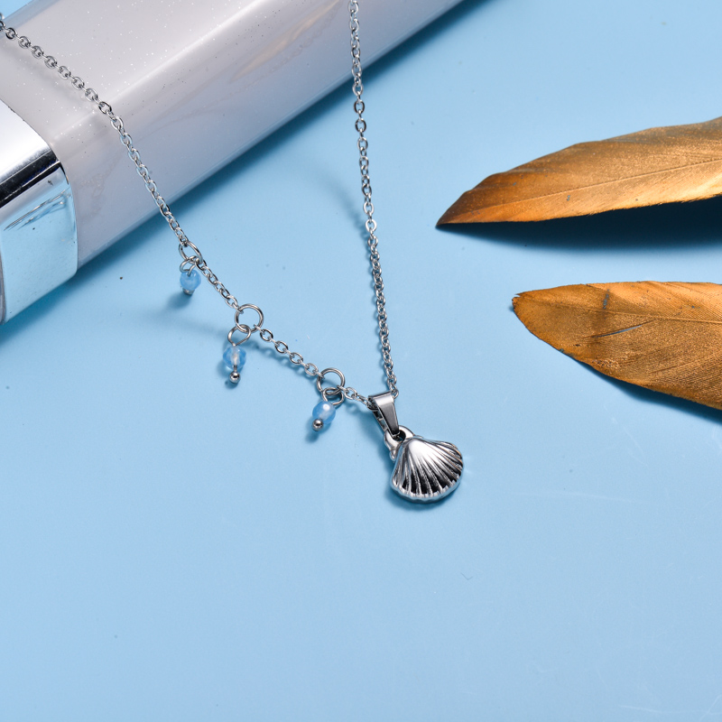 Stainless Steel Marine Beach Style Pendant Necklace -SSNEG143-33022
