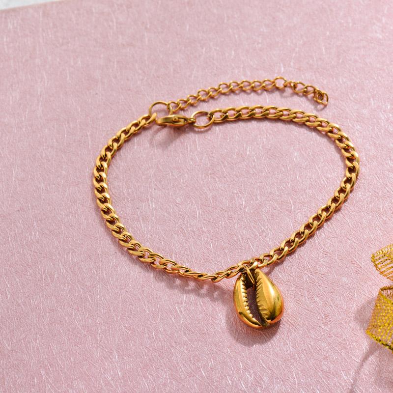 18k Gold Plated Beach Marine Charm Bracelets -SSBTG143-32787