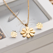 18k Gold Plated Flower Jewelry Sets -SSCSG143-32835