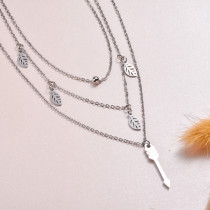 Stainless Steel Layered Necklace -SSNEG143-32976