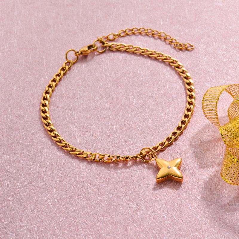 18k Gold Plated Beach Marine Charm Bracelets -SSBTG143-32790