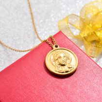 18k Gold Plated Maria Pendant Necklace -SSNEG143-32736