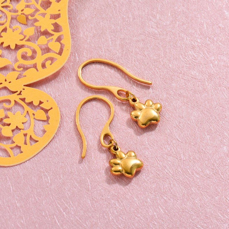 18k Gold Plated Pawn Drop Earrings -SSEGG143-32813