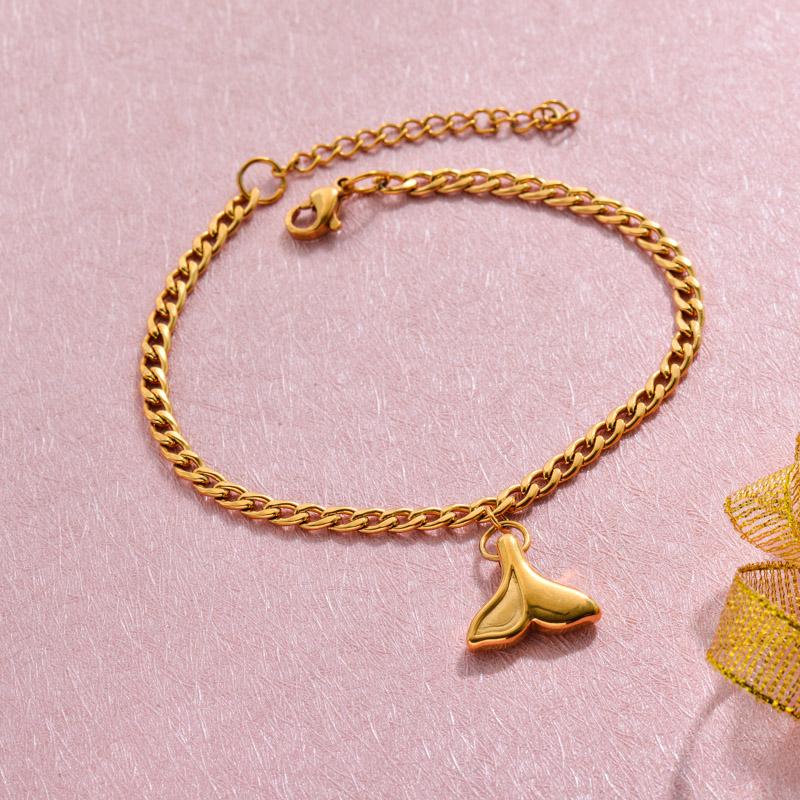 18k Gold Plated Beach Marine Charm Bracelets -SSBTG143-32789