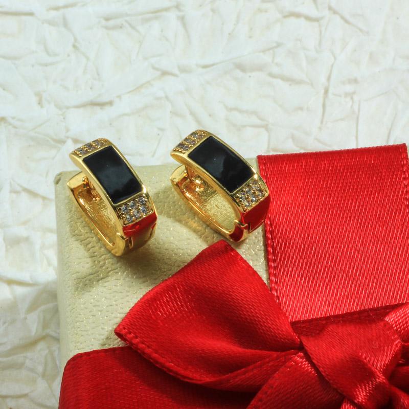 Aretes de Oro Laminado para Damas Mayoreo -BREGG198-34091