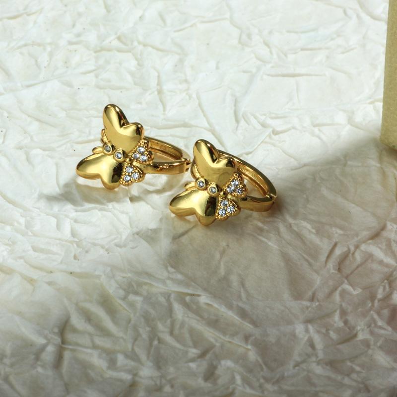 Aretes de Oro Laminado para Damas Mayoreo -BREGG198-34092