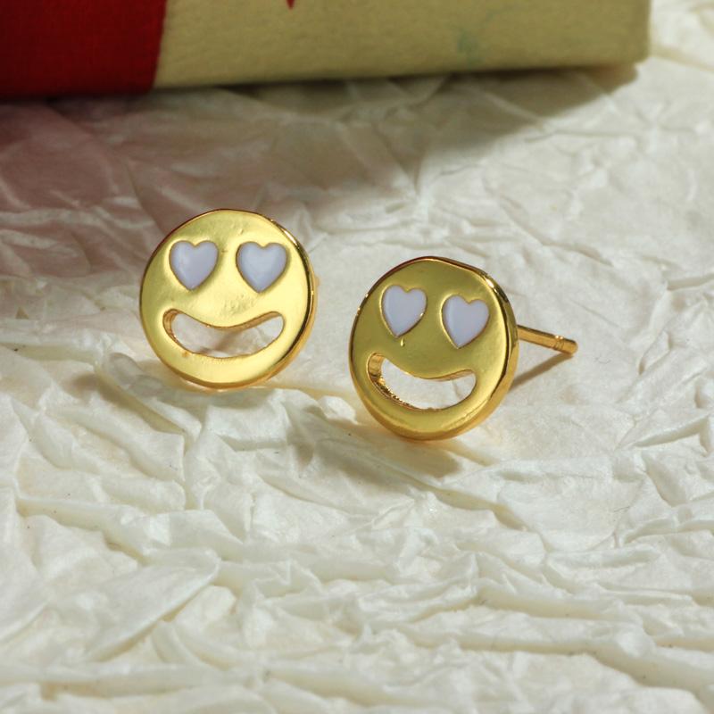 Aretes de Oro Laminado para Damas Mayoreo -BREGG198-34107