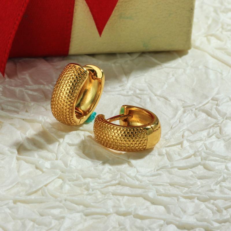 Aretes de Oro Laminado para Damas Mayoreo -BREGG198-34110