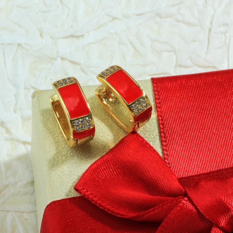 Aretes de Oro Laminado para Damas Mayoreo -BREGG198-34089