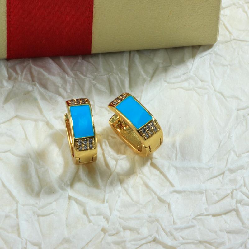Aretes de Oro Laminado para Damas Mayoreo -BREGG198-34088