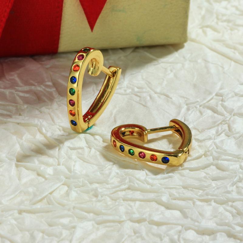Aretes de Oro Laminado para Damas Mayoreo -BREGG198-34108
