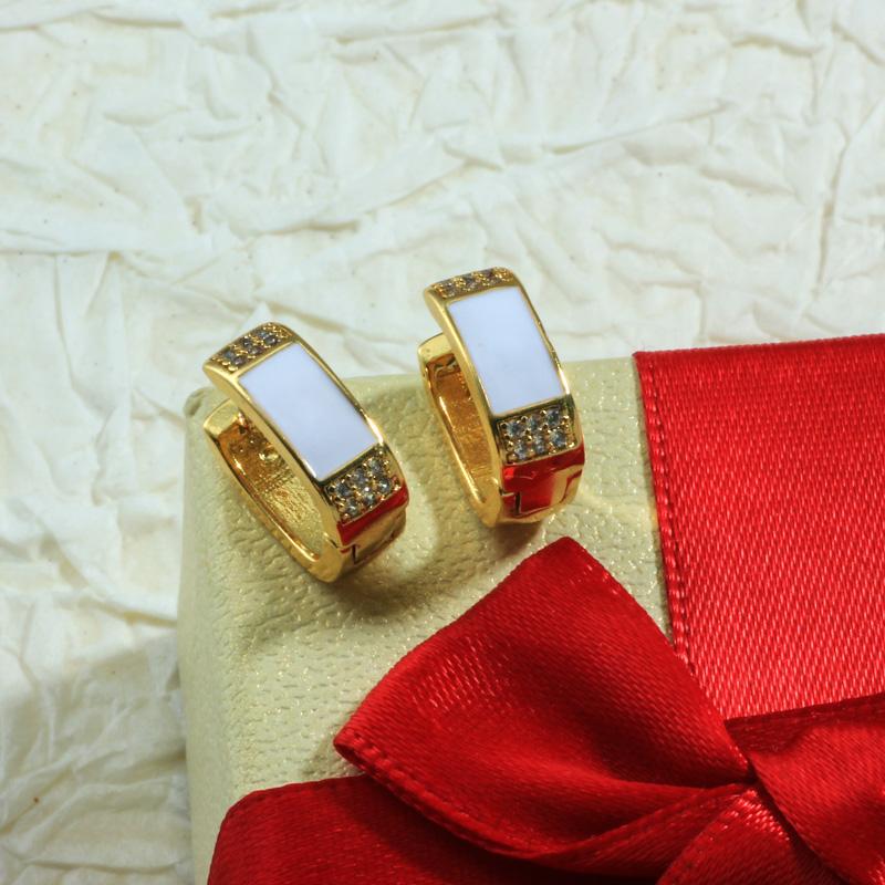Aretes de Oro Laminado para Damas Mayoreo -BREGG198-34090