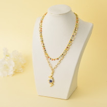 Collares de Oro Laminado para Damas Mayoreo -BRNEG142-34333