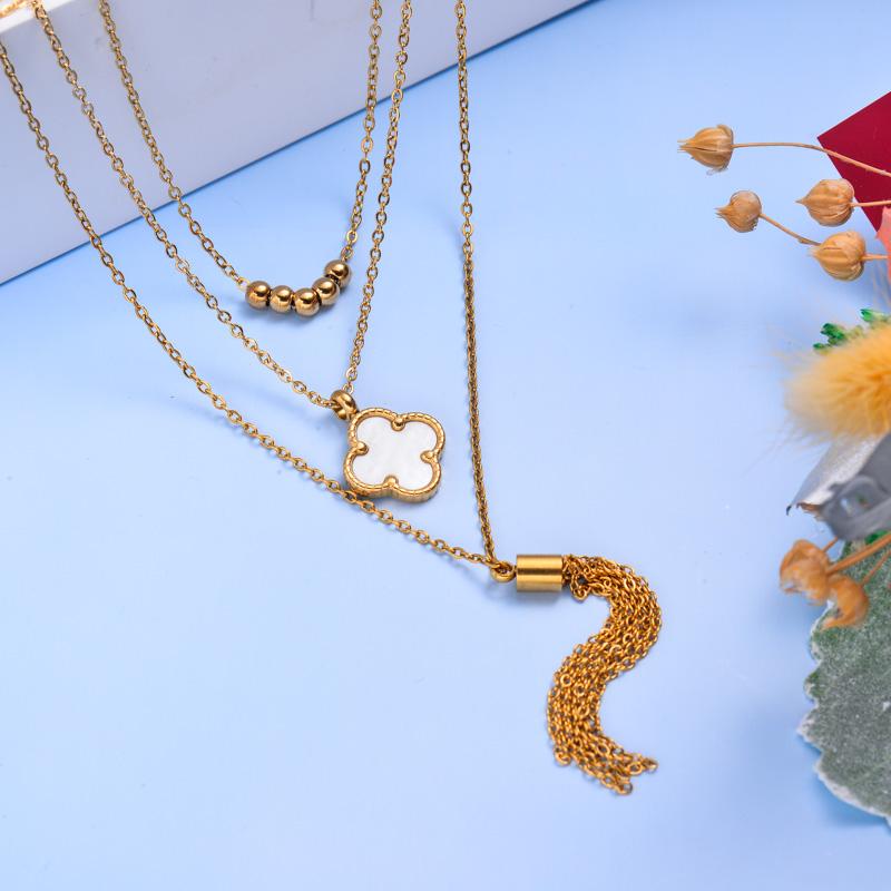 Collares de Acero Inoxidable para Mujer al por Mayor -SSNEG142-33600