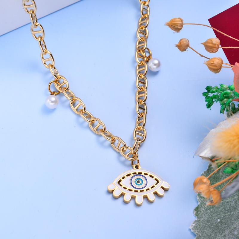 Collares de Acero Inoxidable para Mujer al por Mayor -SSNEG142-33603