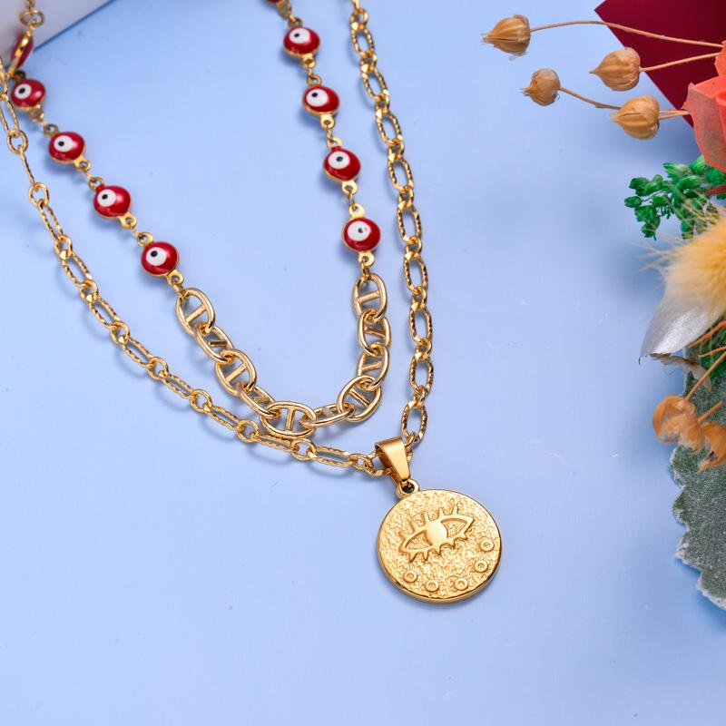 Collares de Acero Inoxidable para Mujer al por Mayor -SSNEG142-33602