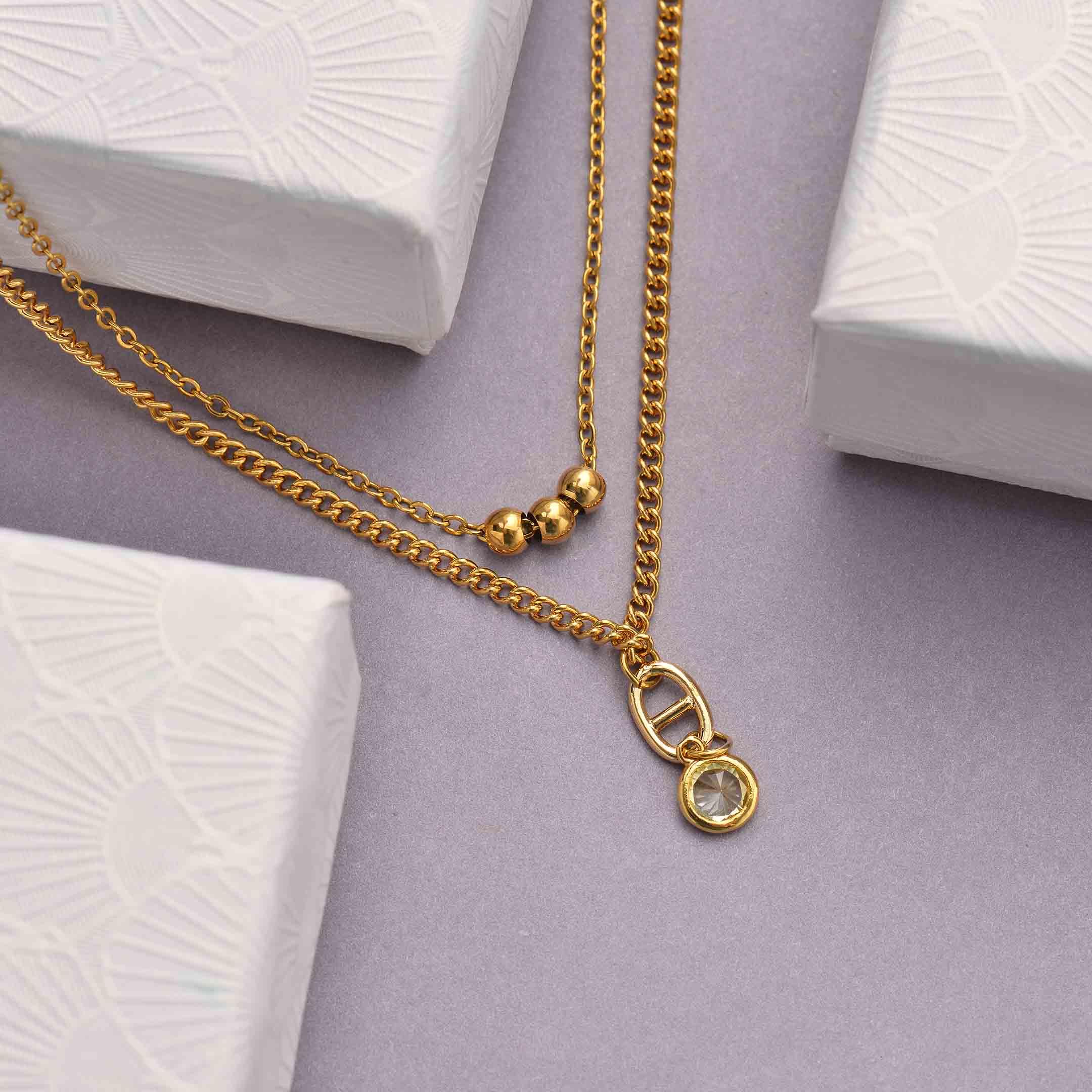 Collares de Acero Inoxidable para Mujer al por Mayor -SSNEG142-33810