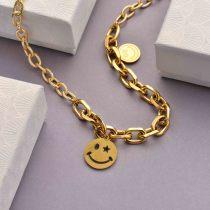 Collares de Acero Inoxidable para Mujer al por Mayor -SSNEG142-33759