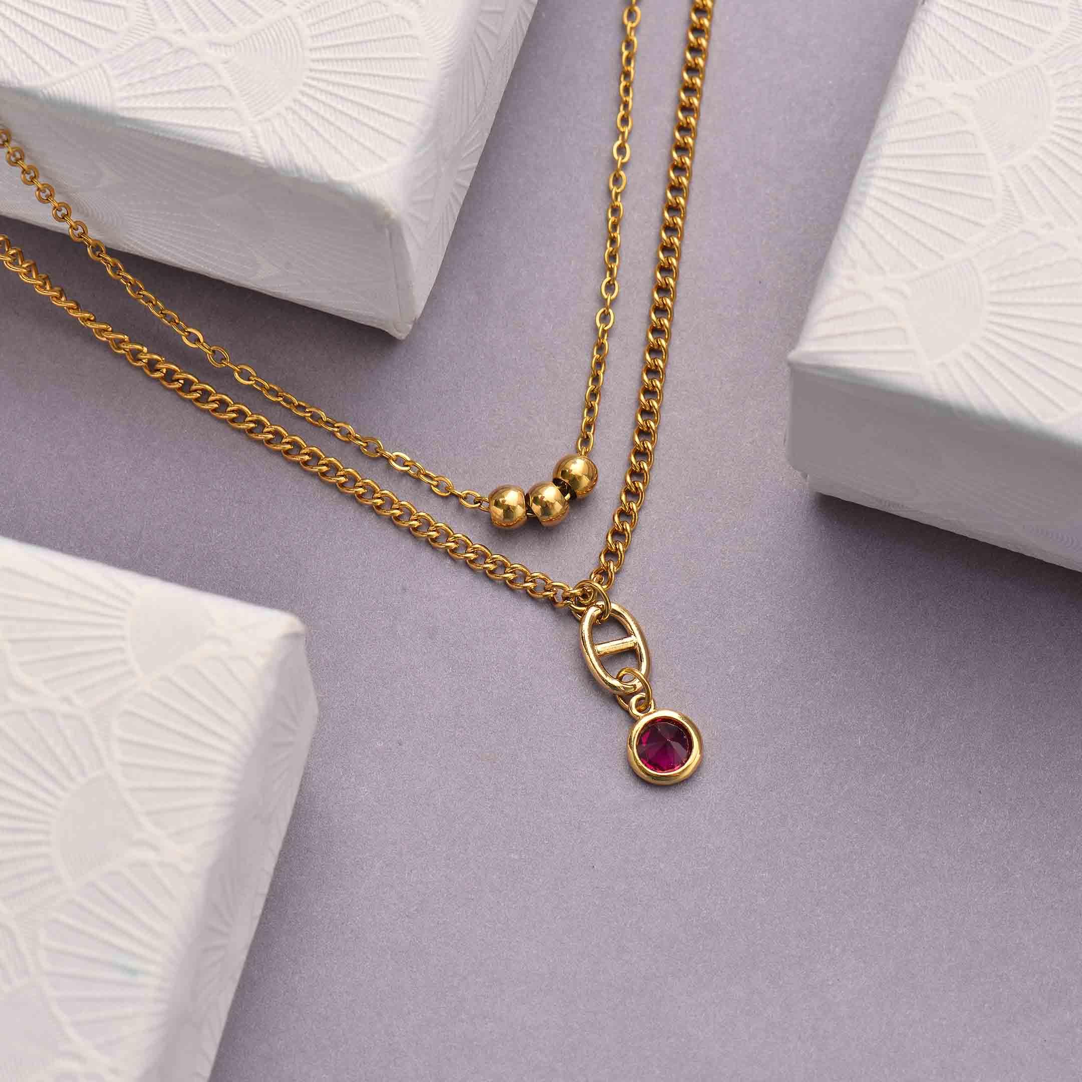 Collares de Acero Inoxidable para Mujer al por Mayor -SSNEG142-33809