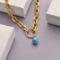 Collares de Acero Inoxidable para Mujer al por Mayor -SSNEG142-33757