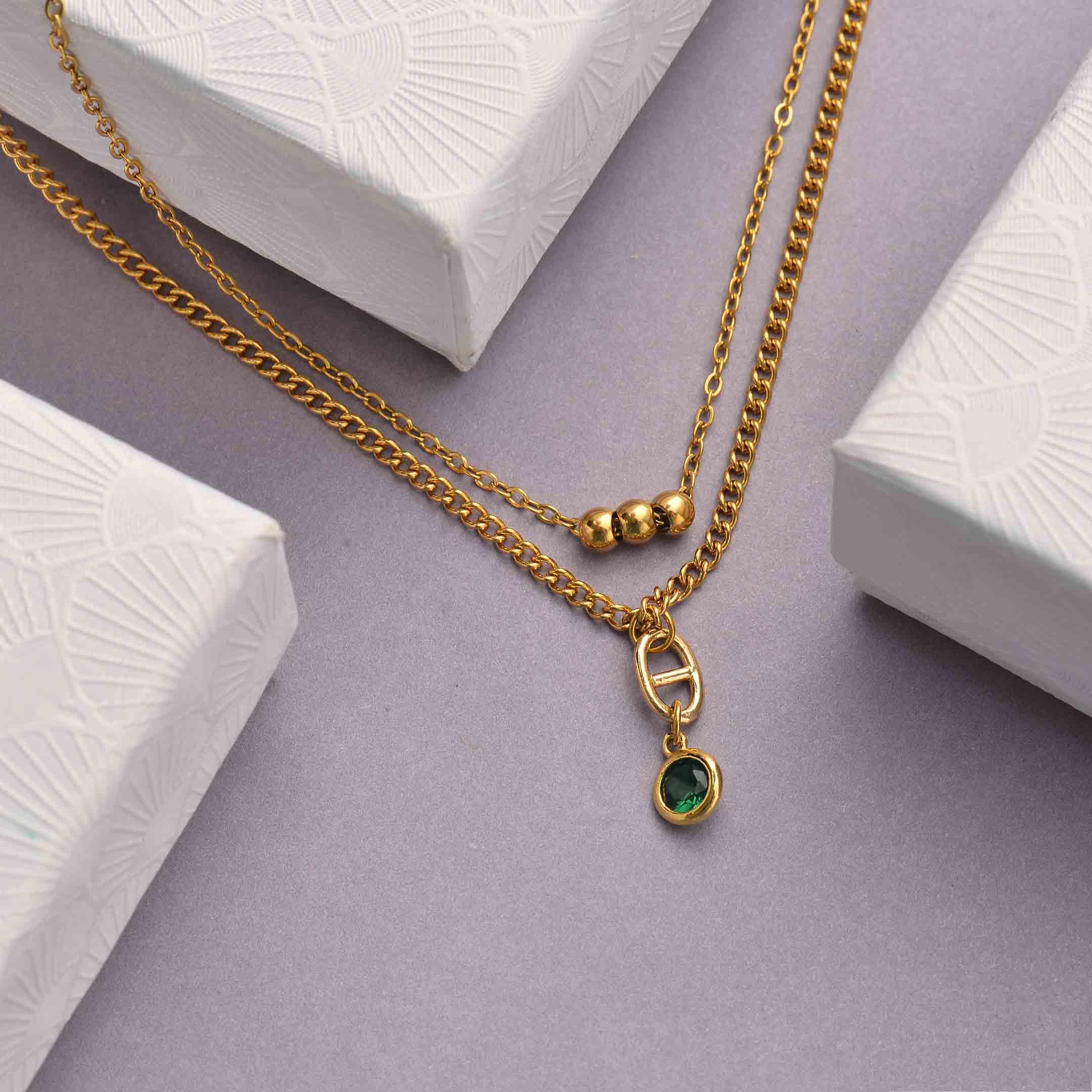 Collares de Acero Inoxidable para Mujer al por Mayor -SSNEG142-33806